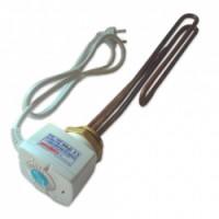 """Topné těleso Galmet GE 3kW - 230V - 1 1/4"""" (5/4"""") S termostatem"""