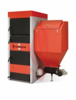 Kombinovaný ocelový kotel KOVARSON PREDATOR 30 kW - DOPRAVA ZDARMA
